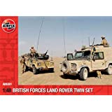 Airfix A06301 British Forces Land Rover Twin 1:48 Scale Series 6 Plastic Model Kit