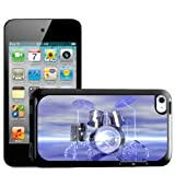 Fancy A Snuggle Funky Reflective Drum Set Futuristic Design Hard Back Case Cover for Apple iPod Touch 4th Generation