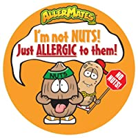AllerMates Peanut / Tree Nut Allergy Alert Stickers [24 Pack] from Awearables, Inc.