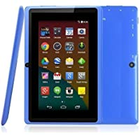 """BTC Flame� UK 7"""" Tablet PC Powerful Quad Core ATM7029B CPU, Google Android 4.4 KitKat, Dual Camera, HDMI, Bluetooth, 1024x600 Multi-touch Screen, 8GB Nand Flash, Google Play Pre-loaded, WiFi, HDMI, 3D Game Supported (blue)"""