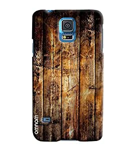 Omanm Wooden Pattern Printed Designer Back Cover Case For Samsung Galaxy S5