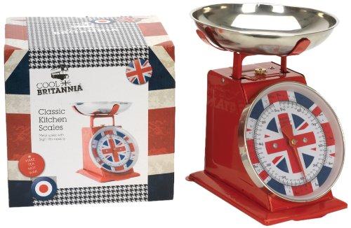 Cool Britannia Balance de cuisine vintage Motif drapeau britannique