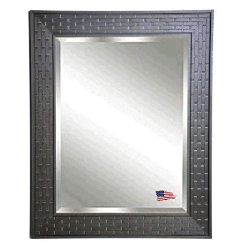 American Made Rayne Espresso Bricks Beveled Wall Mirror, 38.5 X 44.5 front-651090