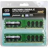 CFD-Panram デスクトップ用 DDR2 800 Long-DIMM 2GB 2枚組 CL5 W2U800PS-2G