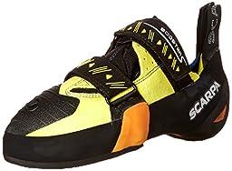 Scarpa Booster S Climbing Shoe, Black/Yellow, 42.5 EU/9.5 M US