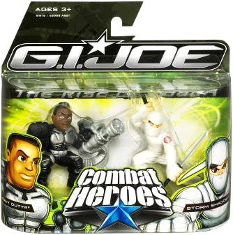G.I. Joe The Rise of Cobra Combat Heroes 2-Pack Heavy Duty and Storm Shadow - 1