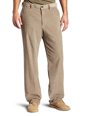Haggar Men's Big-Tall Work To Weekend Expandable Waistband 14 Wale Corduroy Plain Front Caual Pant,Beige,44Wx30L