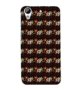 Fuson Premium Back Case Cover Floral Pattern With Brown Background Degined For HTC Desire 626::HTC Desire 626G Plus::HTC Desire 626G+