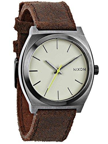 Nixon A0451388-00 - Orologio da polso unisex, pelle, colore: marrone