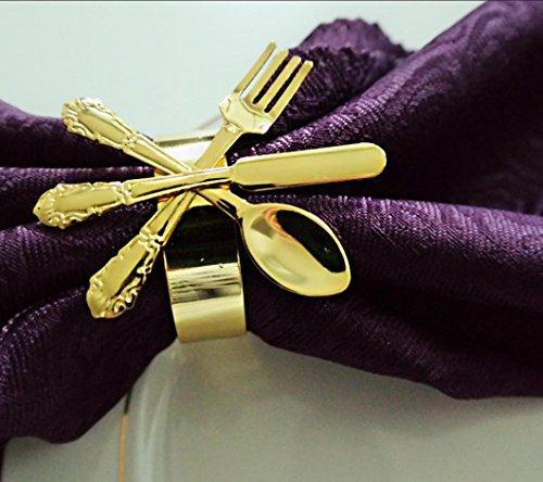 QFL Anneaux de serviette anneau/Western boucle/serviette serviette anneau Hotel soft design/modèle/fourchette et cuillère graphiques