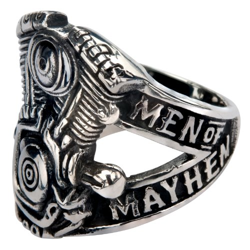 Sons of Anarchy Men of Mayhem V-Twin Stainless Steel Ring (10)