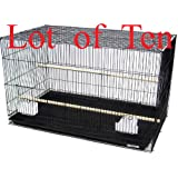 Mcage Lot of Ten Aviary Breeding Breeder Lovebird Finch Parakeet Finch Flight Cage 20