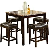 Crown Mark Kinsey 5-Piece Counter Height Table/Stool
