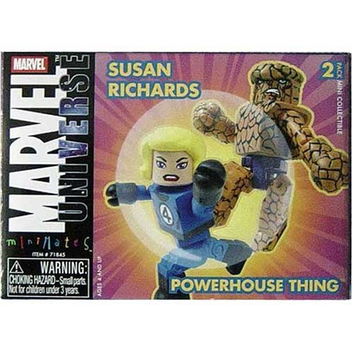 Marvel Minimates 8 Invisible Woman and Powerhouse Thing - 1