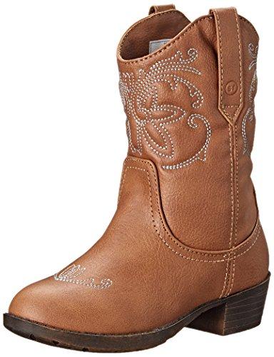 Stride Rite Molly Cowboy Boot (Toddler/Little Kid/Big Kid), Brown, 12.5 M US Little Kid
