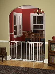 Regalo Extra Wide 58 Inch WideSpan Walk Through Safety Gate, White