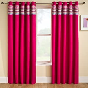 Siesta Blackout Ready Made Curtains Pink 46 X 72 Kitchen Home