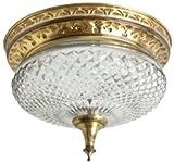 Fos Lighting Brass Ceiling Light