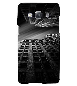PrintVisa Building BW Design 3D Hard Polycarbonate Designer Back Case Cover for Samsung Galaxy A5