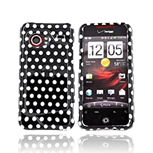 Black Polka Dots Case HTC Droid incredible