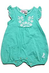 Juicy Couture Baby Girls' Floral Romper (Green)