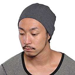 CasualBox Mens Cool Sports Beanie Hat Unisex knit cap Style Fast drying D. Gray