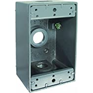 Hubbell 5958-0 Do it Weatherproof Electrical Box-1 GANG GRAY OUTDOOR BOX