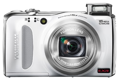 Christmas Fujifilm FinePix F505 16 MP CMOS Sensor and 15x Optical Zoom Digital Camera with 4 GB Class 10 SD Memory Card (White) Deals