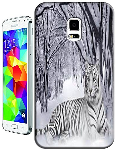 Lovely Power Tigers Cases Covers Phone Hard Back Cases Beautiful Nice Cute Animal Hot Selling Cell Phone Cases For Samsung Galaxy S5 I9600 # 17