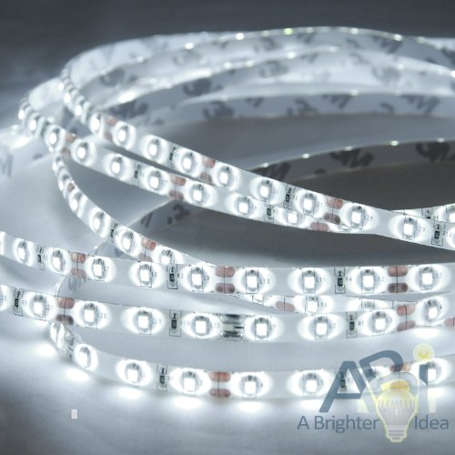 ABI Cool White 6000K Waterproof IP65 LED Strip Light, SMD3528, 5M Role, Indoor/Outdoor for Undercabinet, Deck, Toolbench, etc.