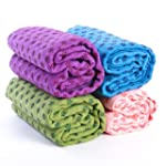 Non-Slip Yoga Dot Grip Towel Mat with...