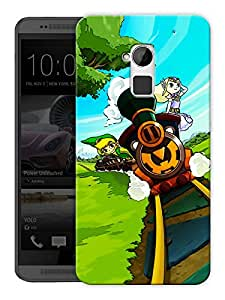 "Humor Gang Choo Choo Train Printed Designer Mobile Back Cover For ""HTC ONE MAX"" (3D, Matte, Premium Quality Snap On Case)"