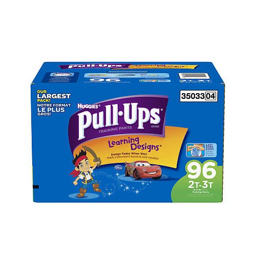 Huggies Pullups 2T3T Potty Training Pants With Learning Designs Boys 96 Count front-1027578