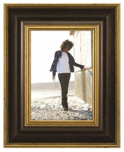 Malden International Designs Fashion Woods Bronze & Gold 5x7 Picture Frame