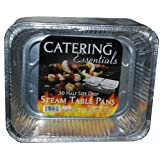 Catering Essentials Half Size Deep Foil Steam Table Pan - Pack of 30 (439376)