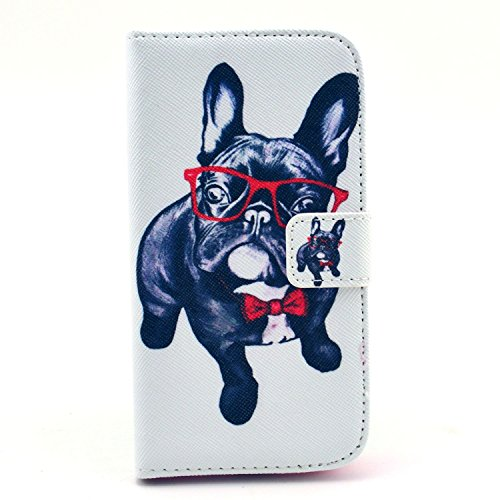 Galaxy S4 Mini Case, Firefish Premium [Kickstand] Build-in Double Protection PU Wallet Case with Magnetic Closure Shock-Absorbing Shell for Samsung Galaxy S4 Mini+ One Stylus-Dog (Speck Samsung S4 Mini Case compare prices)