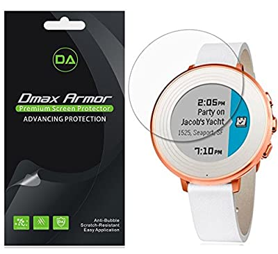 Pebble Time Round 14mm Screen Protector, [6-Pack] Dmax Armor® Anti-Bubble HD Clear Screen Shield -Lifetime Replacements Warranty- Retail Packaging