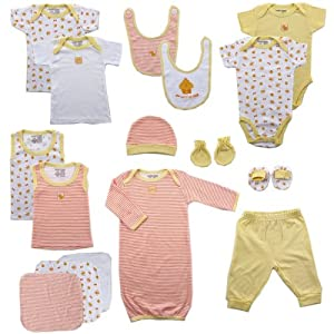 Luvable Friends 16-Piece Deluxe Layette Set, 0-6 Months