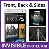 HTC One MINI Full Body INVISIBLE Screen Protector (Front, Back & Side Shields included) 360 Military Grade Protection Exclusively from ACE CASE