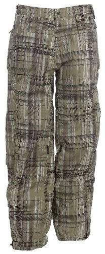 B005E6PHNA Oakley Checked Out Ski Snowboard Pants Hazel Plaid Womens Sz L