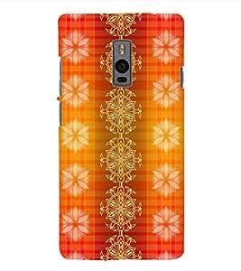 Fuson 3D Printed Colour Pattern Wallpaper Designer Back Case Cover for OnePlus 2 - D868