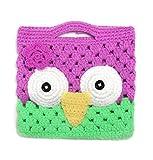 Smile YKK beb� Crochet Knit b�ho hecho a mano cubo Bolso Bolsillo Bolsa Bolso