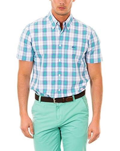 McGregor Camisa Hombre Pieter Marlin B Bd Cf Ss Verde / Azul / Blanco