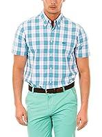 McGregor Camisa Hombre Pieter Marlin B Bd Cf Ss (Verde / Azul / Blanco)