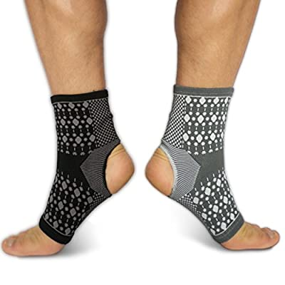 THERAVANA Plantar Fasciitis Compression Ankle Sleeve Socks (1 Pair). Ankle Brace For Foot Pain, Arthritis Swelling, Blood Circulation, Sports Endurance, Arch Support for Men & Women