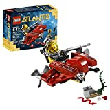 Lego Year 2011 Atlantis Series 3 Inch Long Vehicle Set #7976 - OCEAN SPEEDER With Sea Snake Rare Gold Elements...