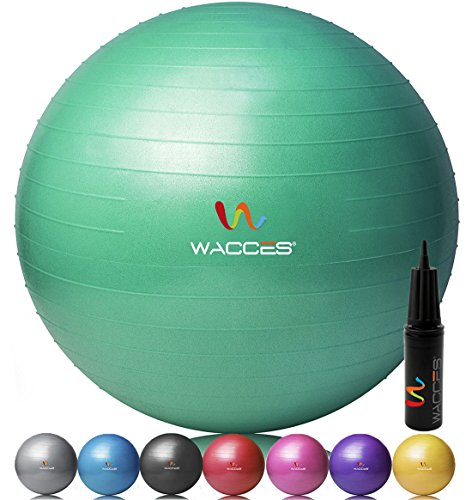 Fitness and Exercise Ball (Green, 65 cm)