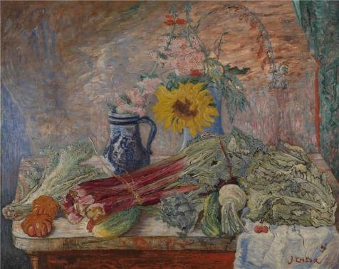The Perfect Effect Canvas Of Oil Painting 'James Ensor - Flowers And Vegetables,1896' ,size: 16x20 Inch / 41x51 Cm ,this Beautiful Art Decorative Prints On Canvas Is Fit For Study Gallery Art And Home Gallery Art And Gifts