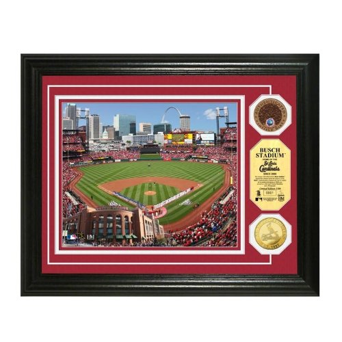 St. Louis Cardinals Busch Stadium Gold & Infield Dirt Coin Photo Mint at Amazon.com