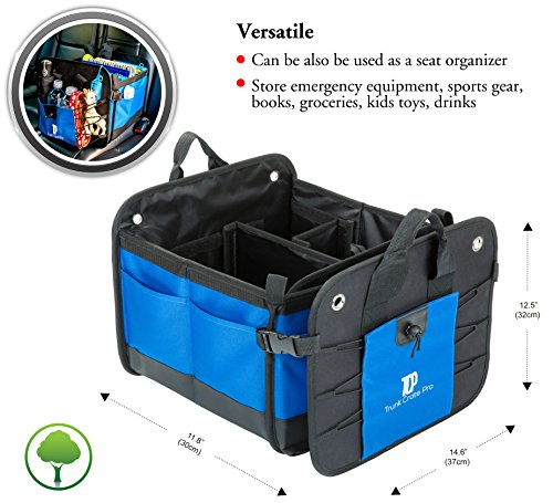 Premium Multi Compartments Collapsible Portable Trunk Organizer